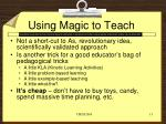 using magic to teach