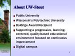 about uw stout