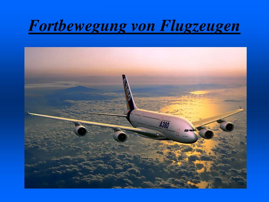 fortbewegung von flugzeugen l.