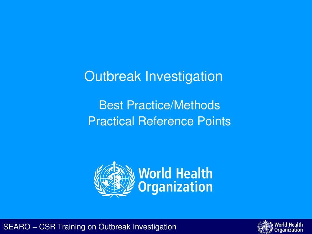 outbreak investigation l.