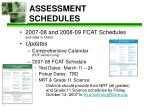 assessment schedules
