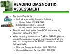 reading diagnostic assessment