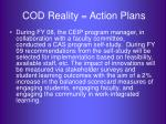cod reality action plans