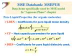 mse databank msepub data items specifically used by mse model in aqueous phase chapter
