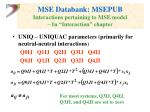 mse databank msepub interactions pertaining to mse model in interaction chapter