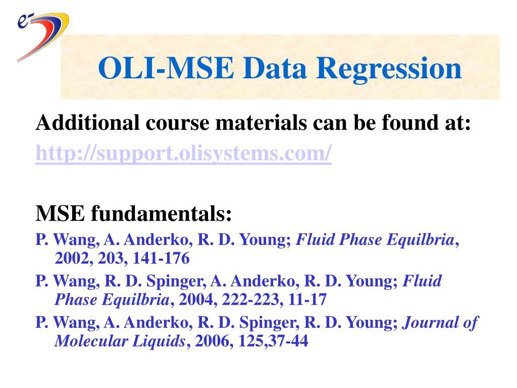 oli mse data regression l.