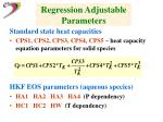 regression adjustable parameters19