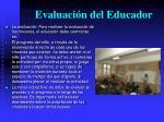 evaluaci n del educador