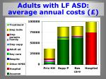 adults with lf asd average annual costs