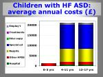 children with hf asd average annual costs