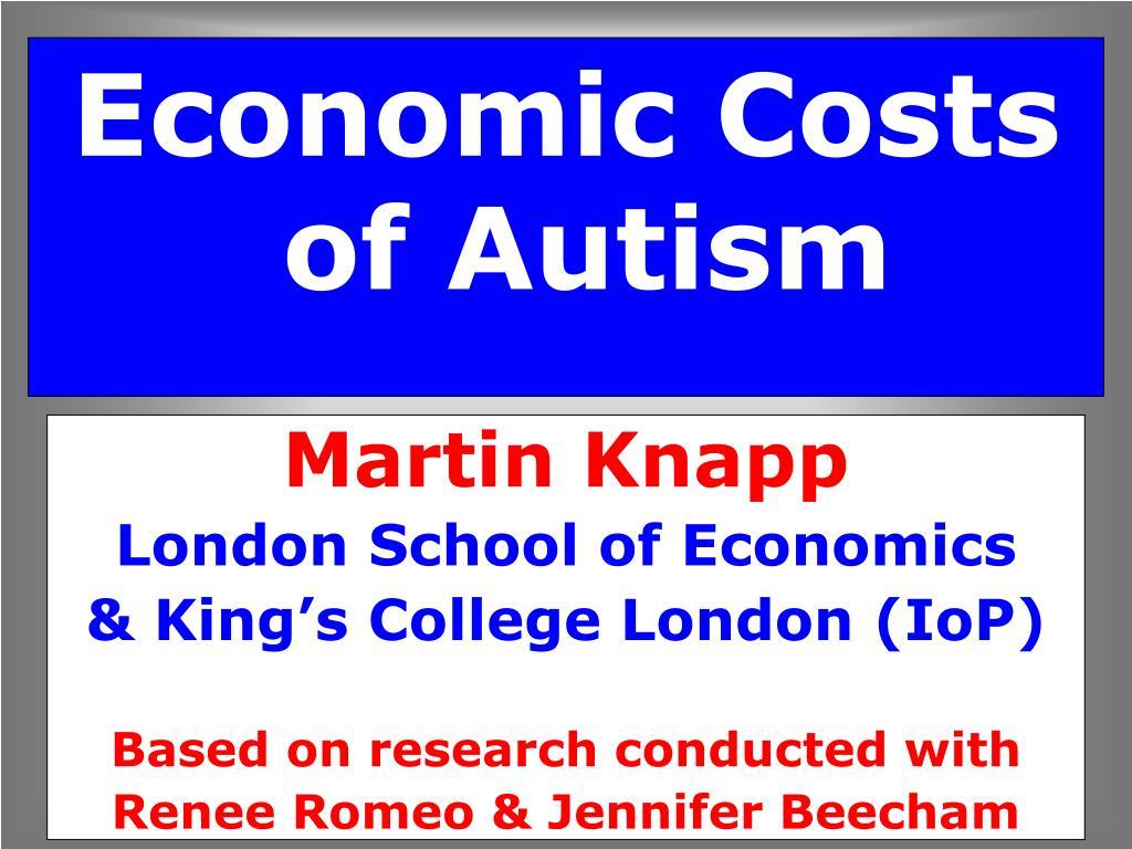 economic costs of autism l.