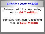 lifetime cost of asd