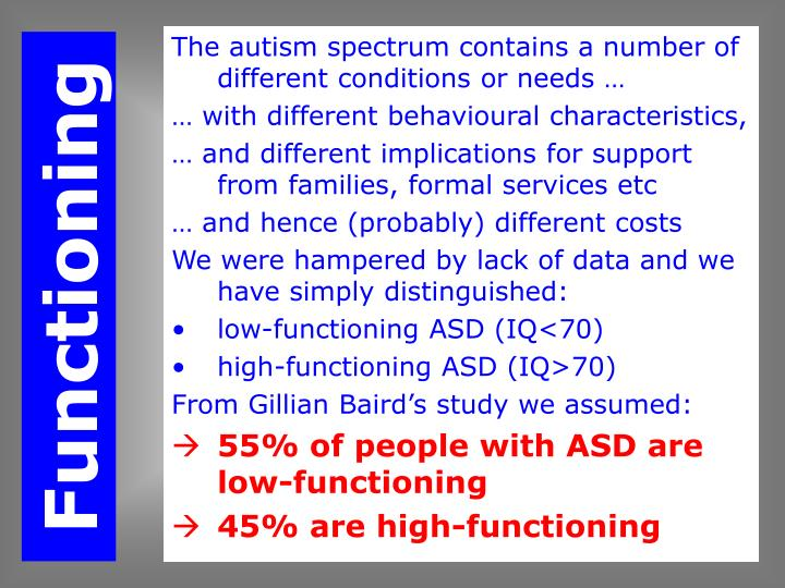 PPT - Economic Costs of Autism PowerPoint Presentation - ID:699077