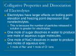 colligative properties and dissociation of electrolytes