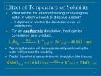 effect of temperature on solubility42