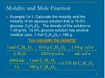 molality and mole fraction11