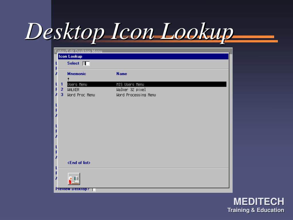 Desktop Icon Lookup