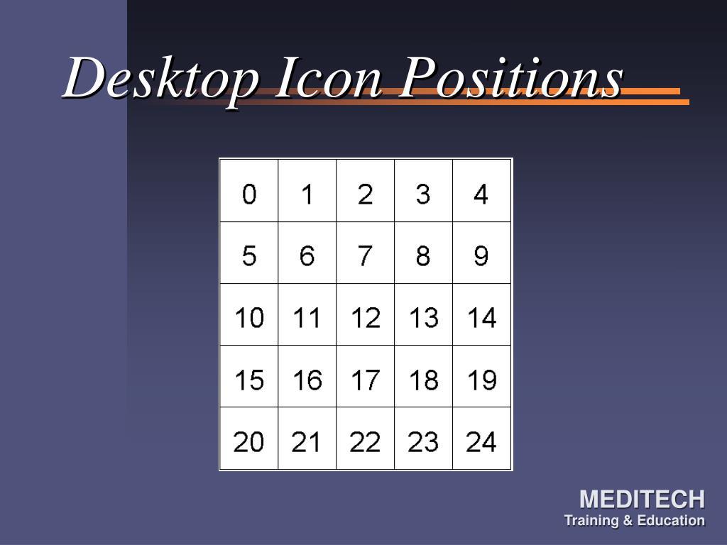 Desktop Icon Positions