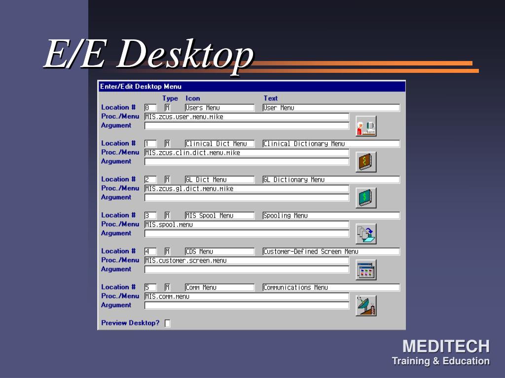 E/E Desktop