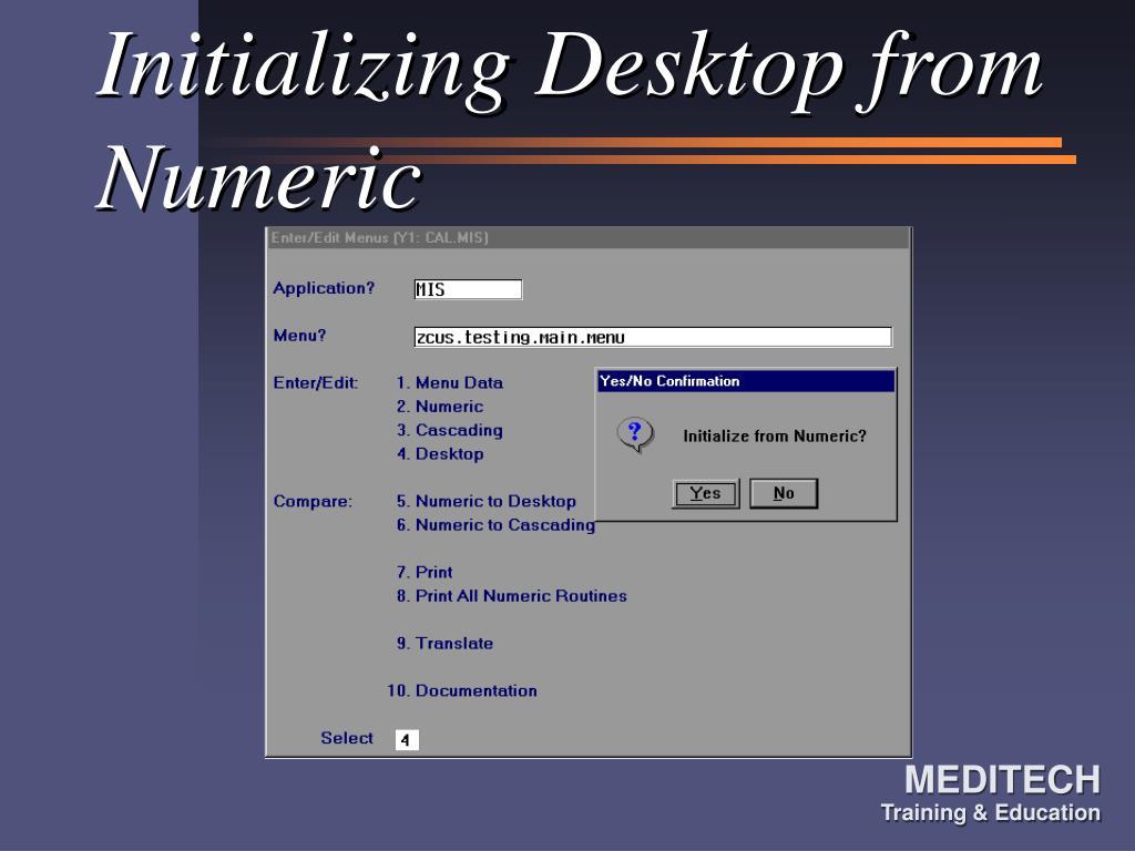 Initializing Desktop from Numeric