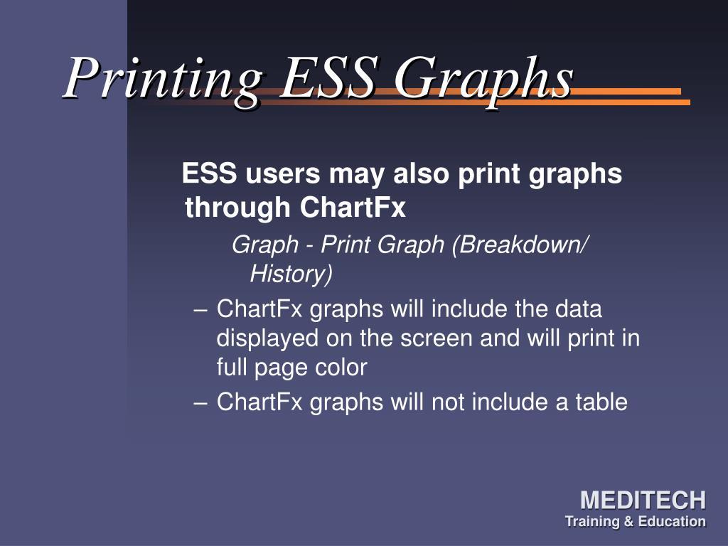 Printing ESS Graphs
