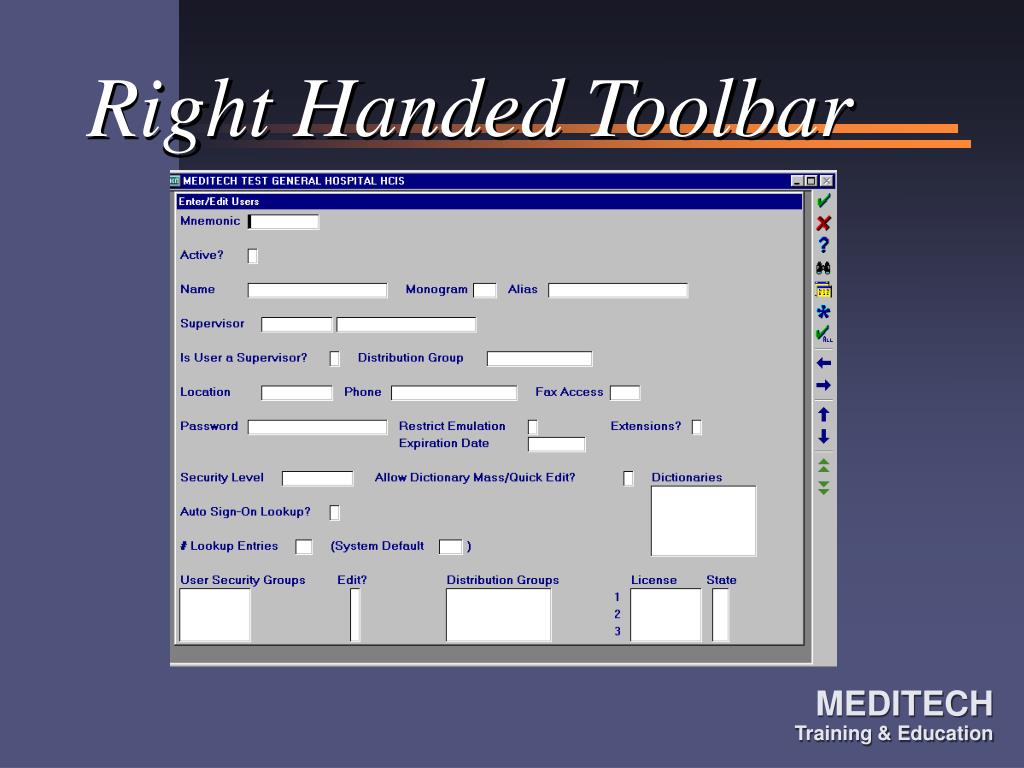 Right Handed Toolbar