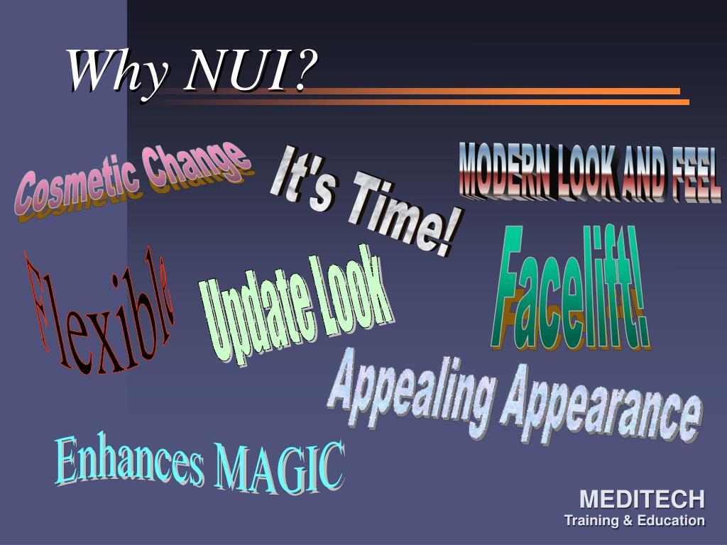 Why NUI?