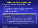 scholarship of application