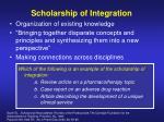 scholarship of integration