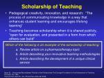 scholarship of teaching