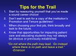 tips for the trail