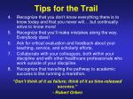 tips for the trail24
