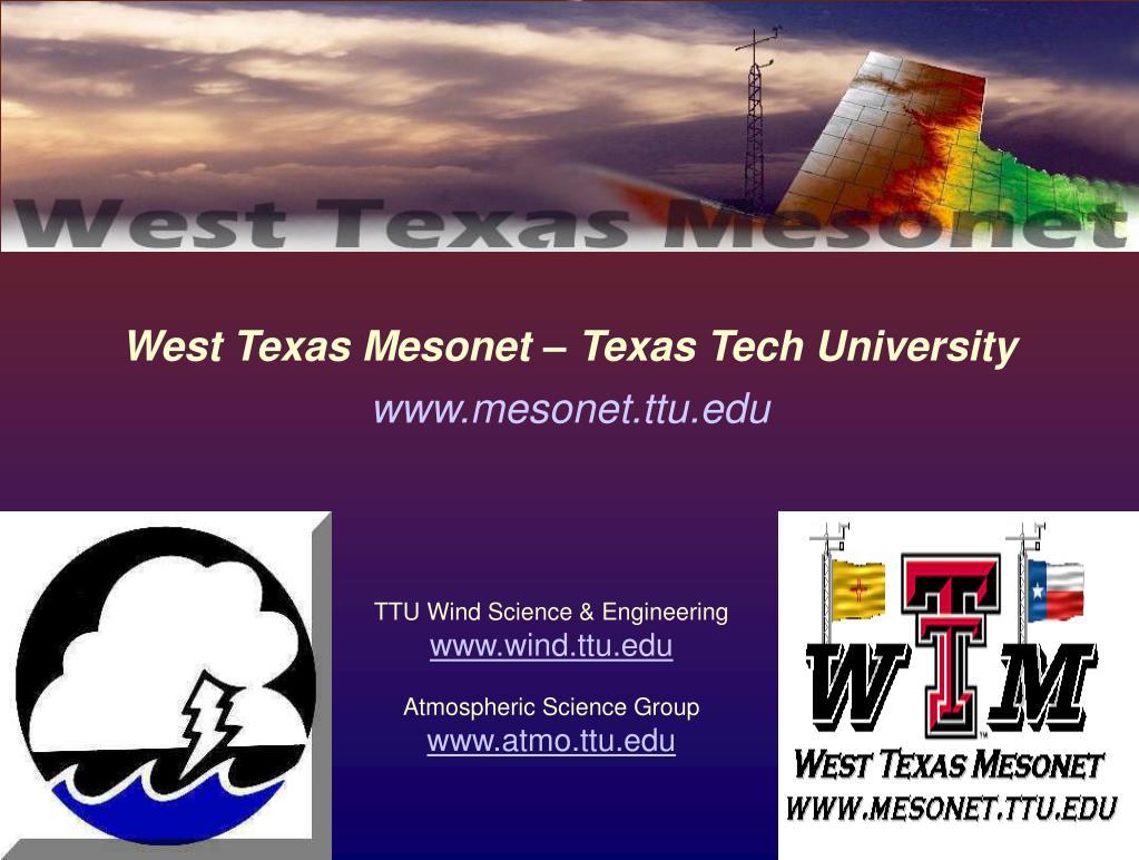 west texas mesonet texas tech university l.