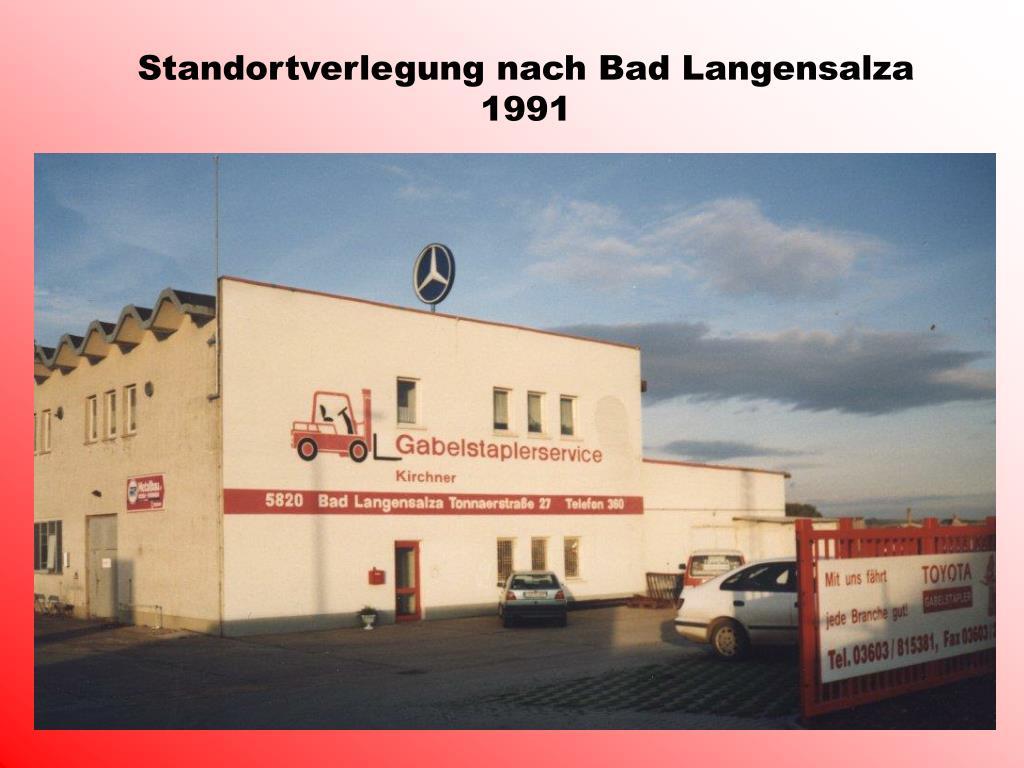 Standortverlegung nach Bad Langensalza