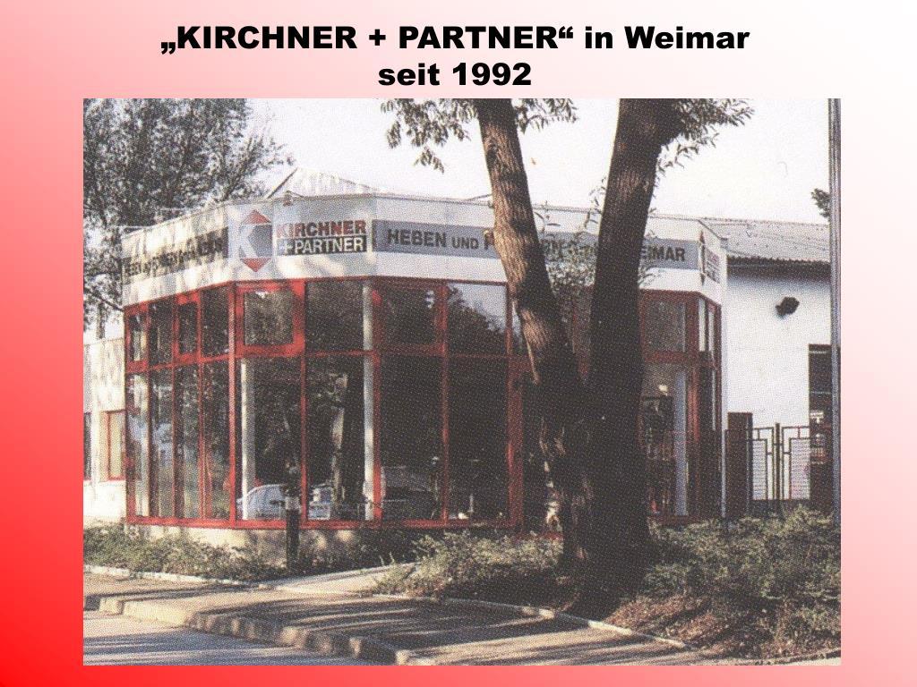 """""""KIRCHNER + PARTNER"""" in Weimar"""
