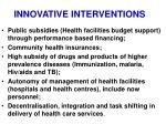 innovative interventions