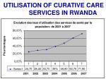 utilisation of curative care services in rwanda