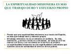 la espiritualidad misionera es m s que trabajo duro y esfuerzo propio