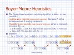 boyer moore heuristics