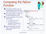 computing the failure function