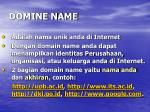 domine name