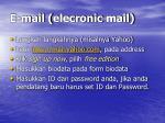 e mail elecronic mail