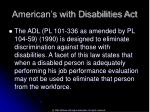 american s with disabilities act