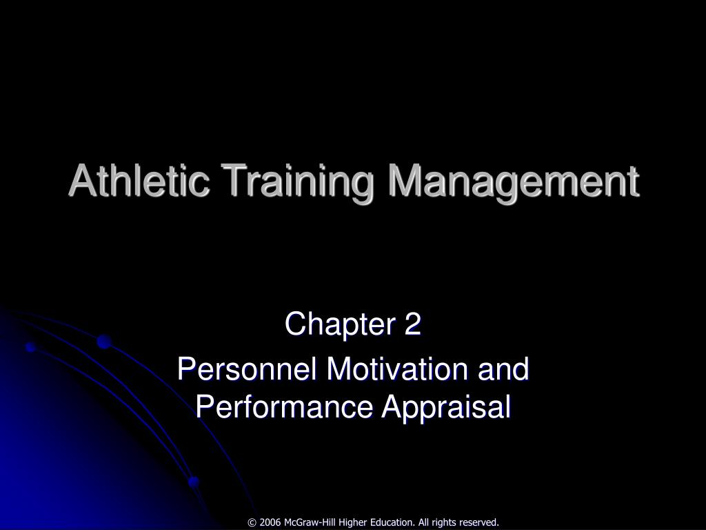 athletic training management l.