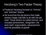 herzberg s two factor theory