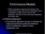 performance models45