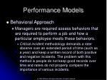 performance models47