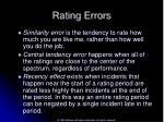 rating errors51