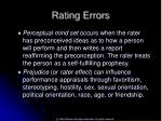 rating errors52