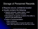 storage of personnel records